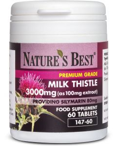 Milk Thistle Tablets 3000 mg 60 tabletek NATURE'S BEST