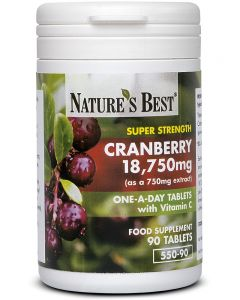 Cranberry Tablets 18.750 mg 90 tabletek NATURE'S BEST