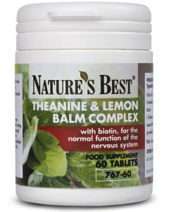 Theanine and Lemon Balm Complex 60 tabletek NATURE'S BEST