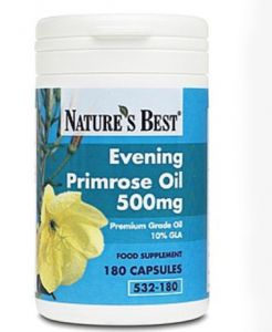 Evening Primrose Oil GLA 500 mg 180 tabletek NATURE'S BEST