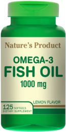 Omega-3 Fish Oil 125 tabletek 1000 mg Nature's Product
