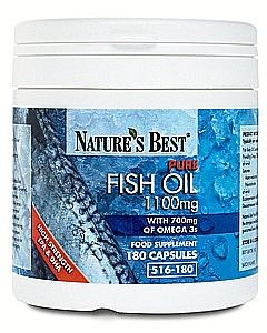 Fish Oil 1100mg - Pure Omega 3s 180 tabletek NATURE'S BEST