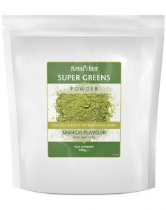 Super Greens Powder, Mango Flavour 200 g NATURE'S BEST