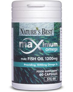 Maximum Strength Pure Fish Oil 1300 mg 60 tabletek NATURE'S BEST