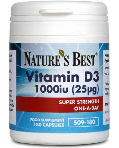 Vitamin D3 1000iu 180 tabletek NATURE'S BEST