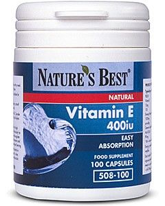 Vitamin E 400iu (268 mg) 100 tabletek NATURE'S BEST