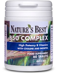 Vitamin B50 Complex 60 tabletek NATURE'S BEST