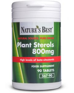 Plant Sterols 800 mg 90 tabletek NATURE'S BEST